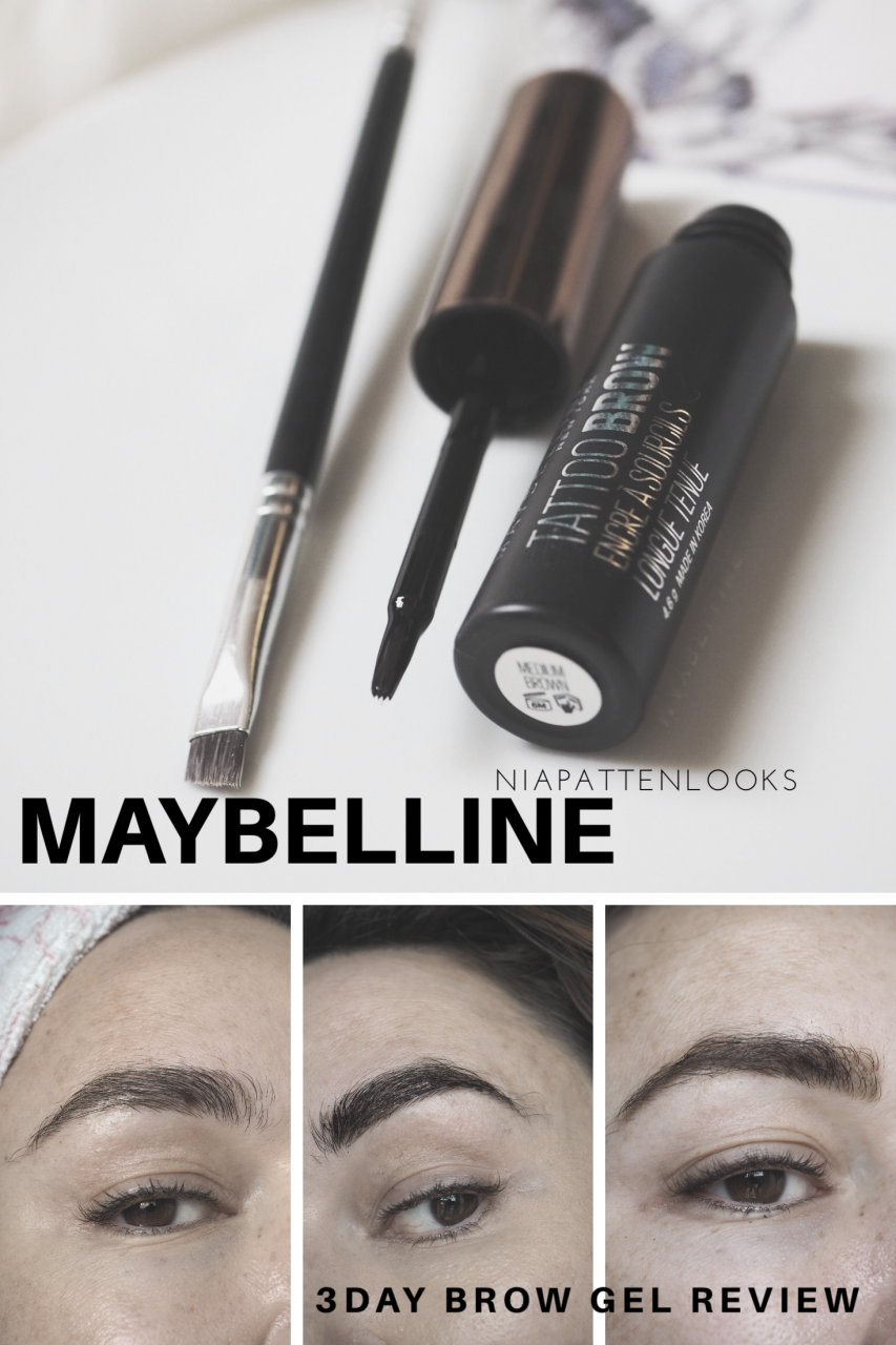 Maybelline tattoo brow easy peel off tint review for Maybeline tattoo brow